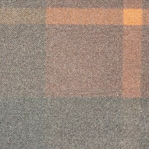 P200 Silkwax Hunter Brown Tartan waxed cotton textile for waxed jackets, apparel, luggage and accessories