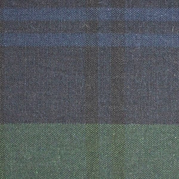 P200 Hybrid/Aero Dark Black Watch Tartan waxed cotton textile for waxed jackets, apparel, luggage, footwear and accessories